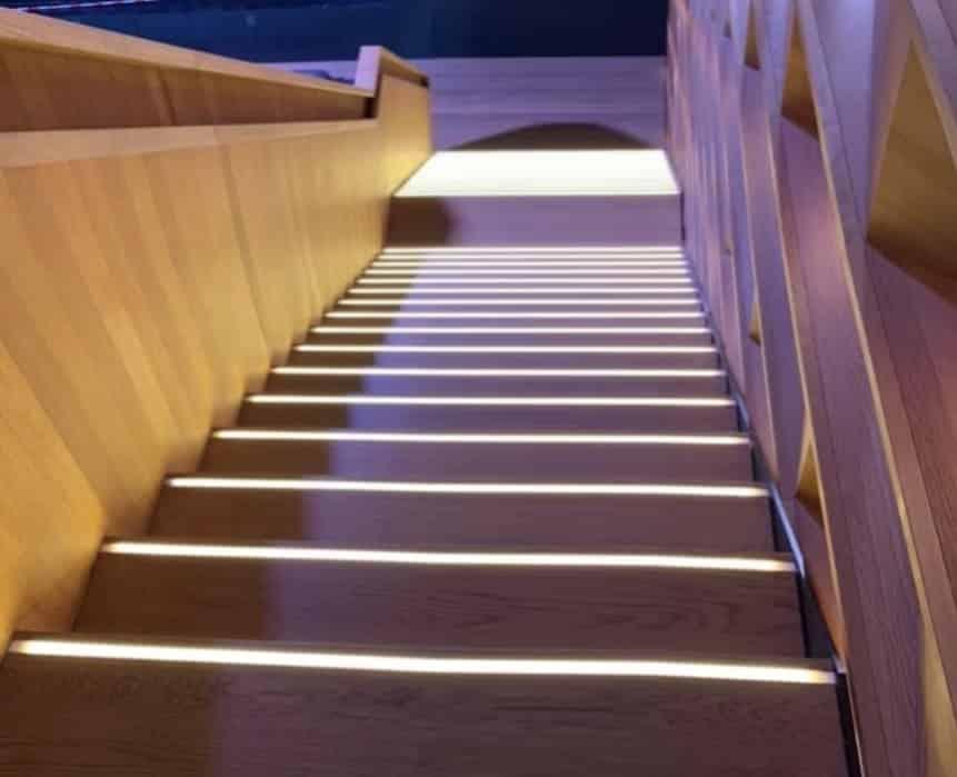 Einbauleuchten-Treppe