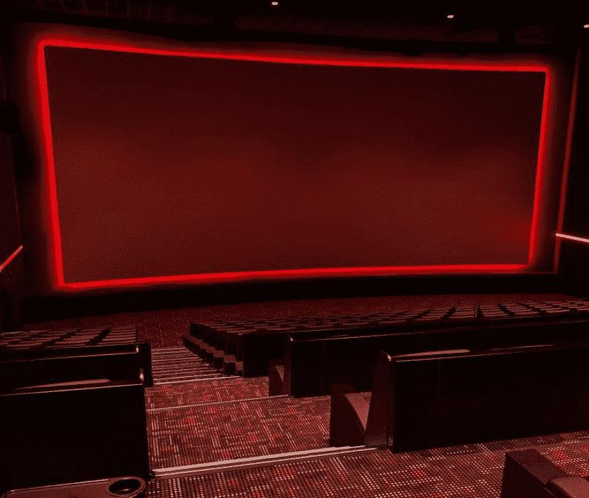 Stufenprofile mit LED in einem Kinosaal